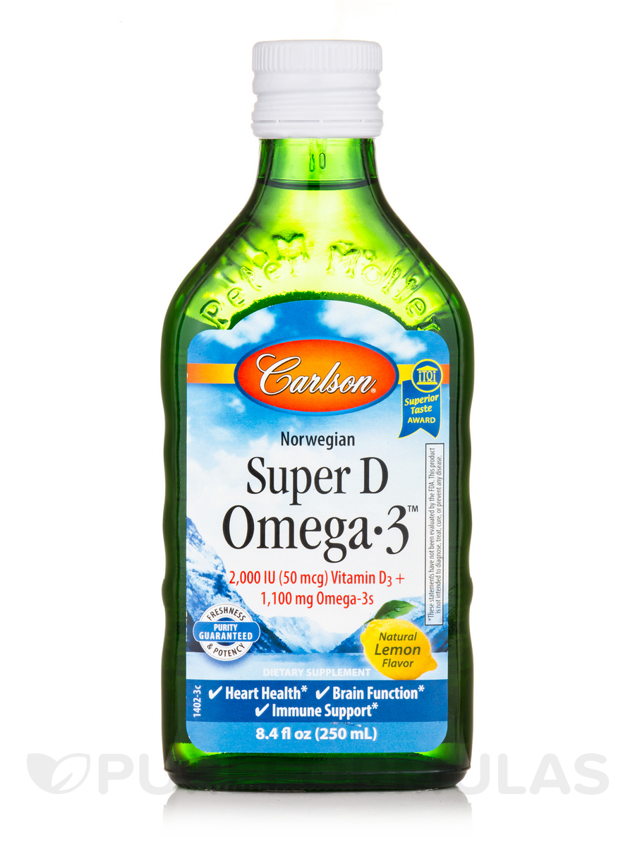 Super D Omega-3 Lemon Taste - 8.4 fl. oz (250 ml)
