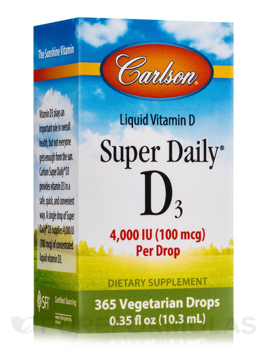 Super Daily® D3 4000 IU - 365 Drops (0.35 fl. oz / 10.3 ml)