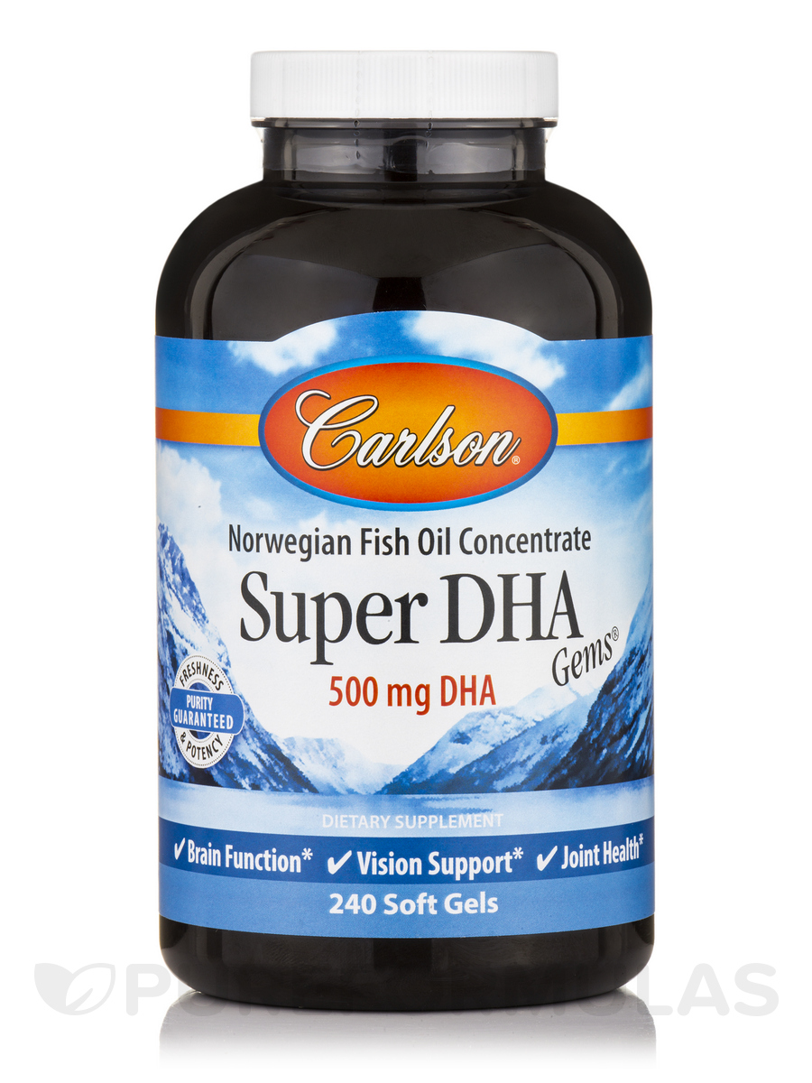 Super DHA Gems 500 mg - 240 Soft Gels