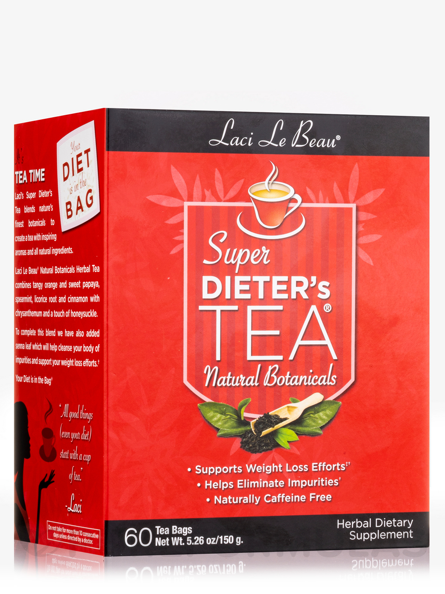 Super Dieter's Tea All Natural Botanicals - 60 Count Box
