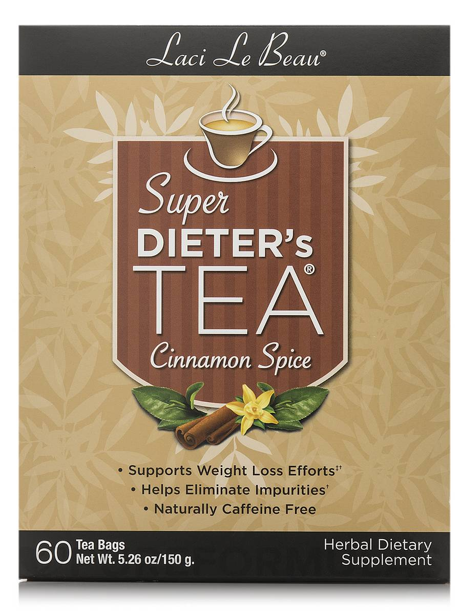 Super Dieter's Tea Cinnamon Spice - 60 Count Box