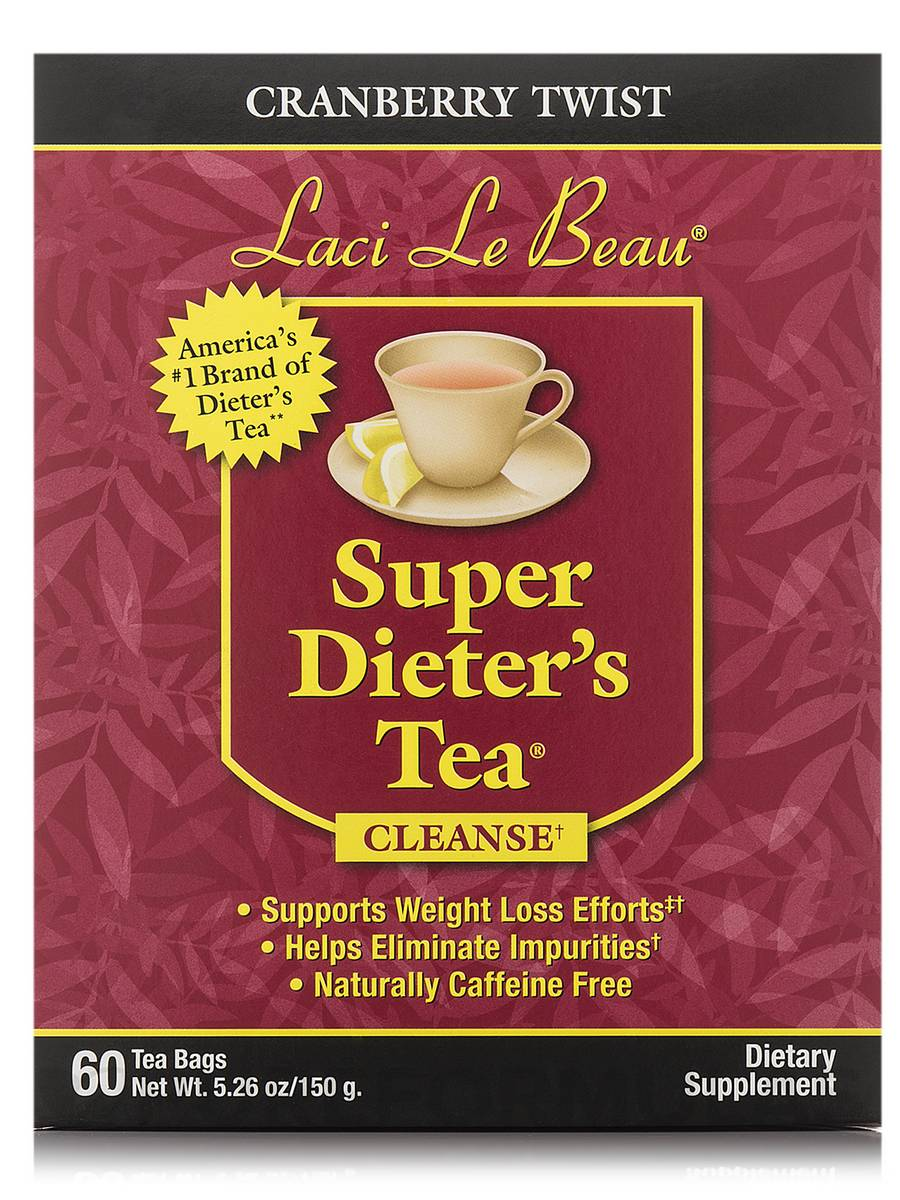 Super Dieter's Tea Cranberry Twist - 60 Count Box