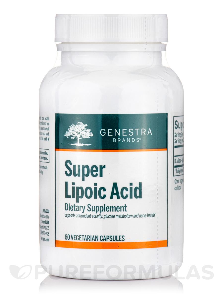 Super Lipoic Acid - 60 Vegetable Capsules