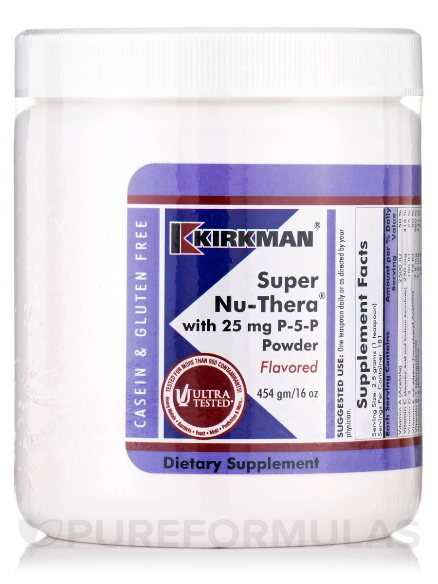 Super Nu-Thera with 25 mg P-5-P Powder - 16 oz (454 Grams)