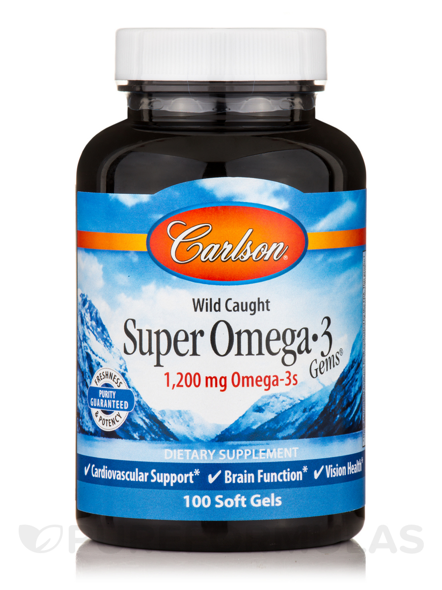 Super Omega 3 Gems Fish Oil Concentrate 1000 mg - 100 Soft Gels