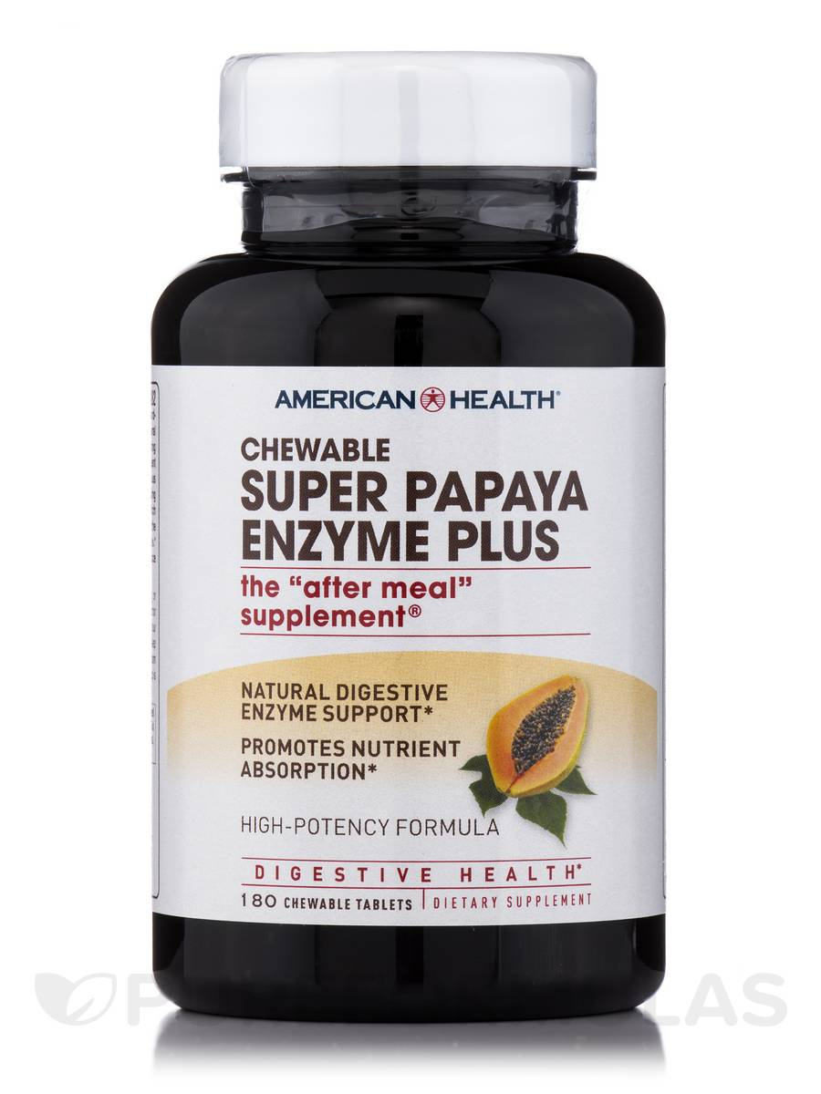 Super Papaya Enzyme Plus - 180 Chewable Tablets