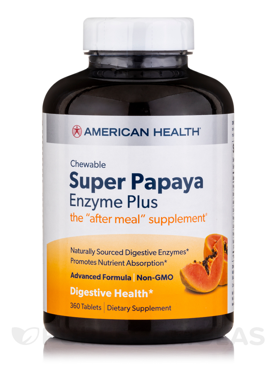 Super Papaya Enzyme Plus - 360 Chewable Tablets