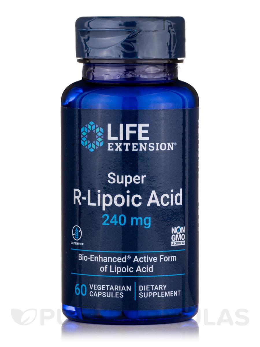 Super R-Lipoic Acid 240 mg - 60 Vegetarian Capsules
