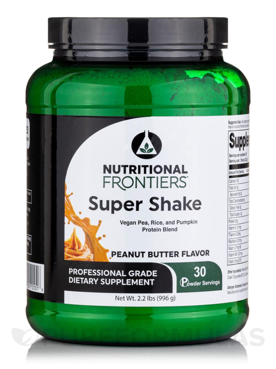 Super Shake Peanut Butter Vegan Powder - 30 Servings (2.224 lbs / 1.009 Kg)