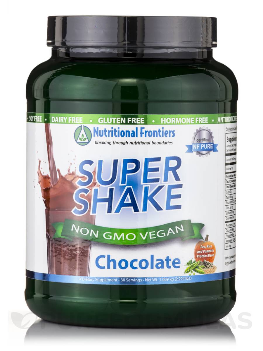 Super Shake Chocolate Vegan Powder - 30 Servings (2.224 lbs / 1.009 kg)