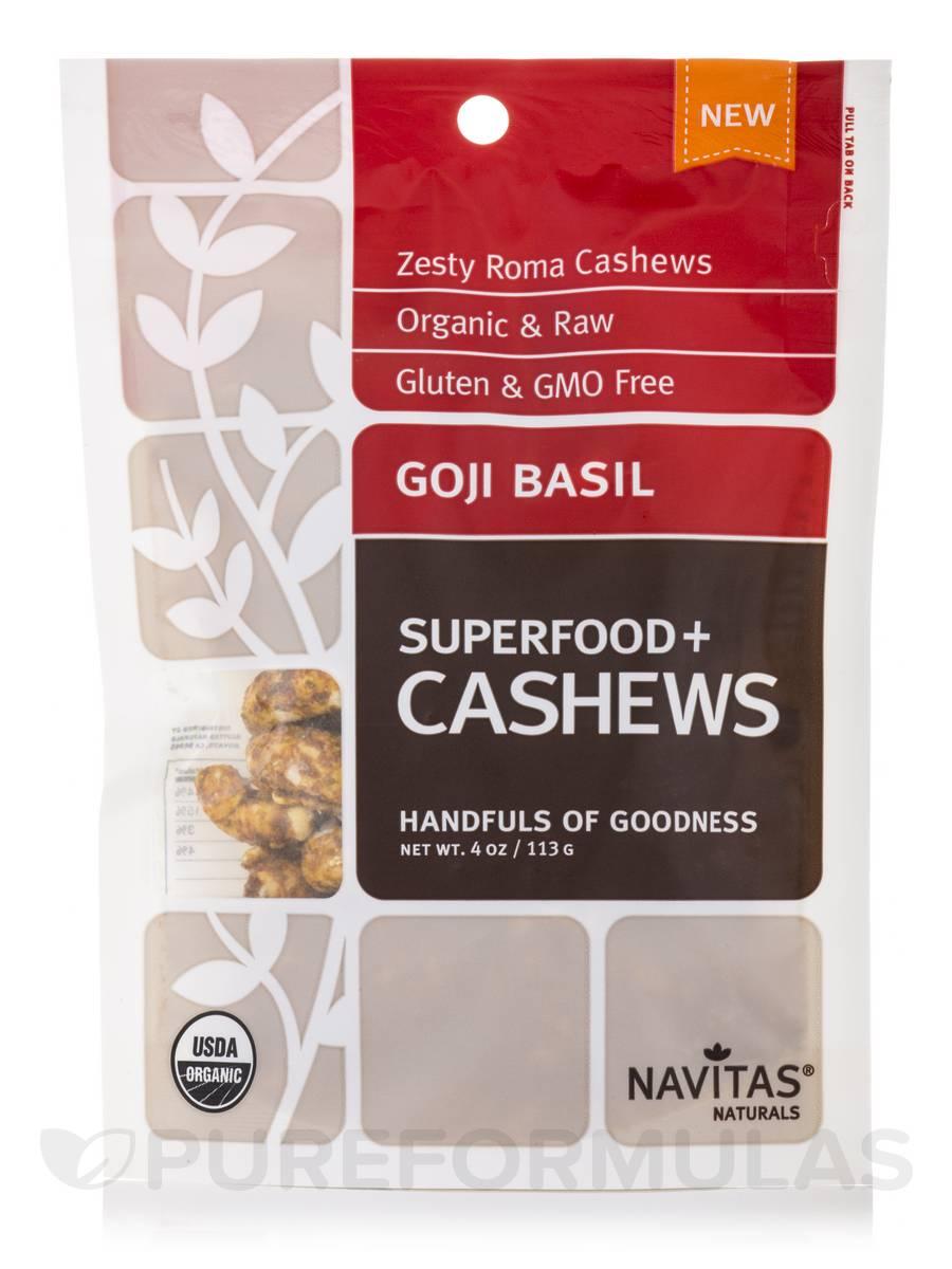 Goji Basil Superfood+ Cashews - 4 oz (113 Grams)