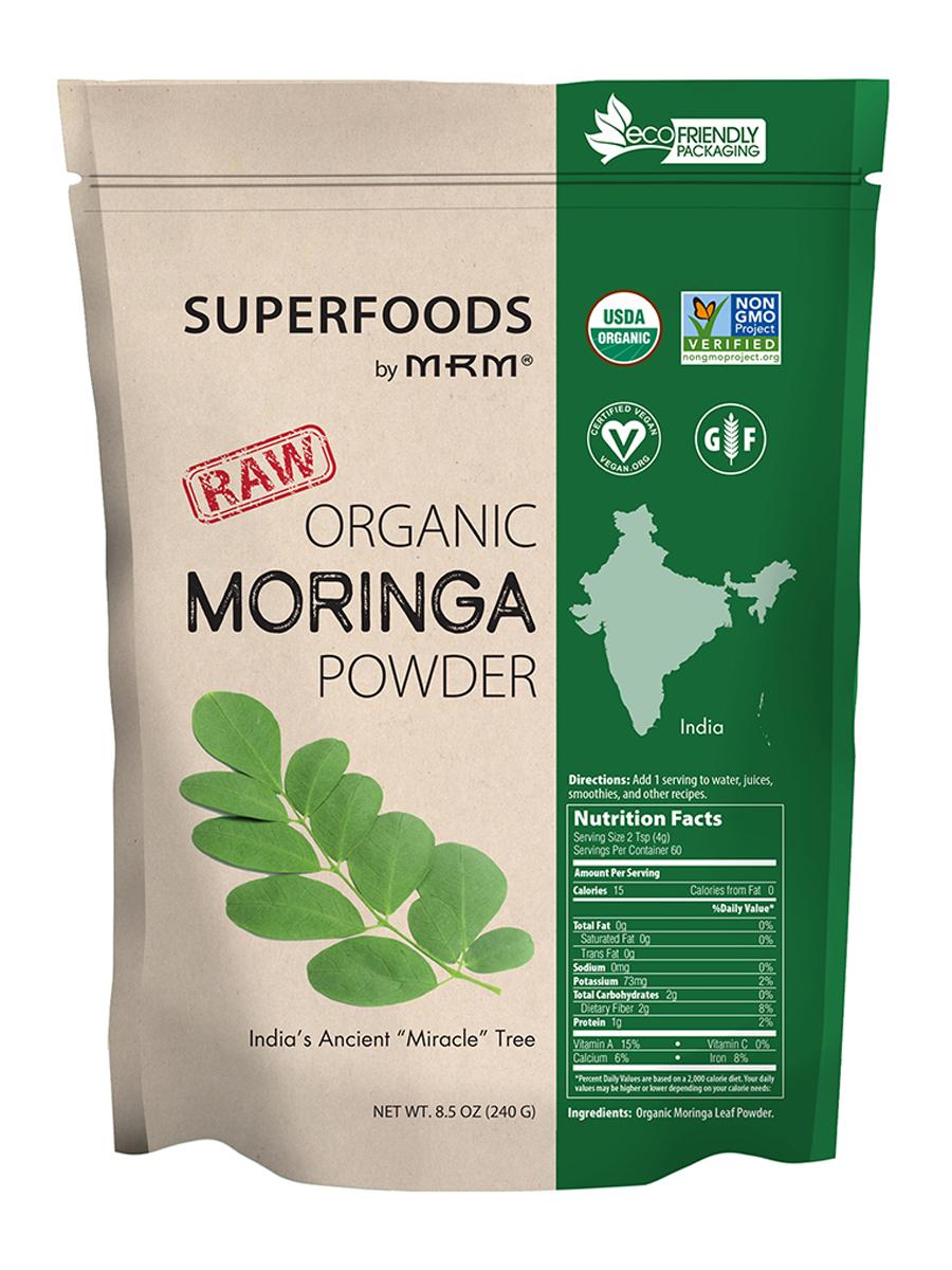 Superfoods - Raw Organic Moringa Powder - 8.5 oz (240 Grams)