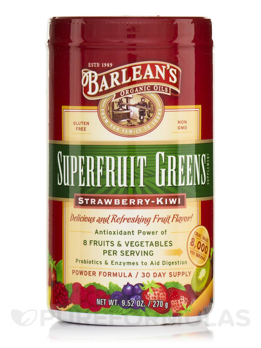 Superfruit Greens Strawberry-Kiwi - 9.52 oz (270 Grams)