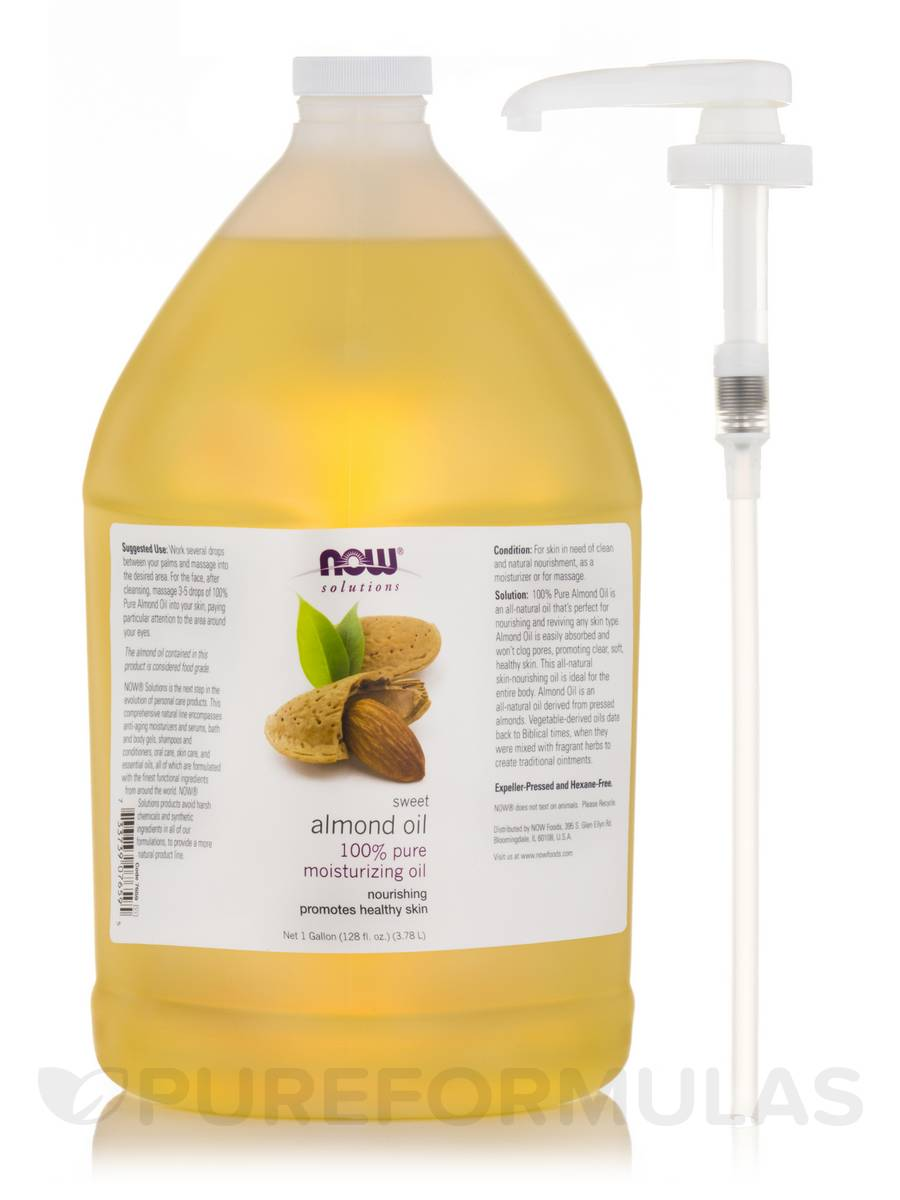 NOW® Solutions - Sweet Almond Oil - 1 Gallon (3.78 L / 128 fl. oz)