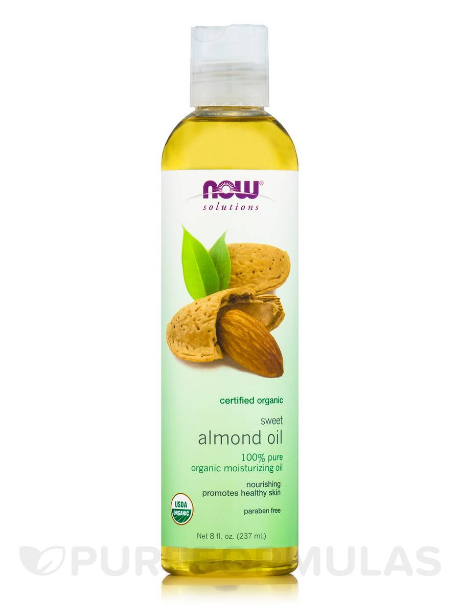 NOW® Solutions - Sweet Almond Oil (100% Pure) - 8 fl. oz (237 ml)