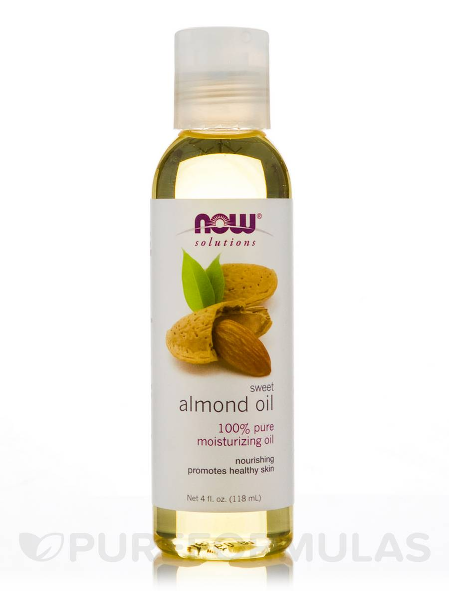 NOW® Solutions - Sweet Almond Oil - 4 fl. oz (118 ml) Almond Olie