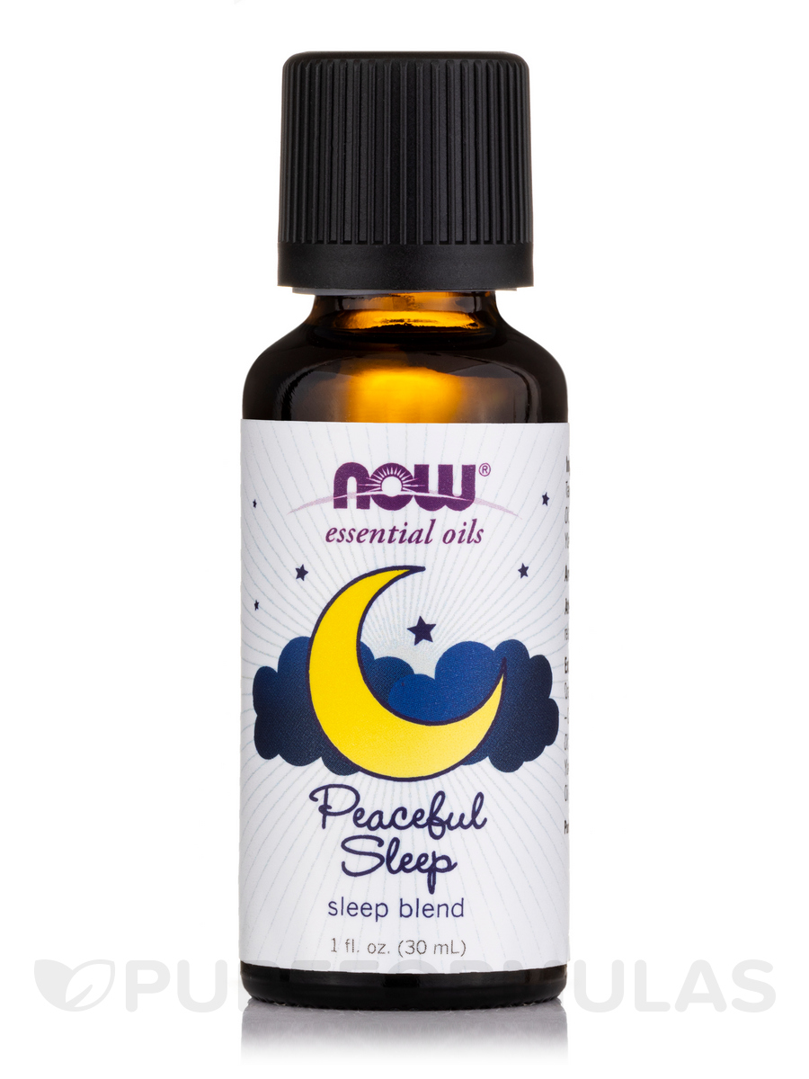 NOW® Essential Oils - Peaceful Sleep Oil Blend - 1 fl. oz (30 ml)