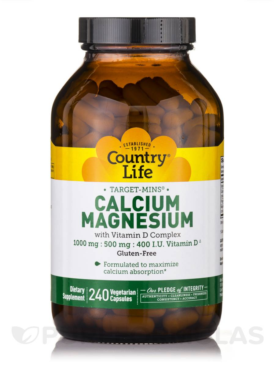 Target-Mins Calcium-Magnesium with Vitamin D - 240 Vegetarian Capsules