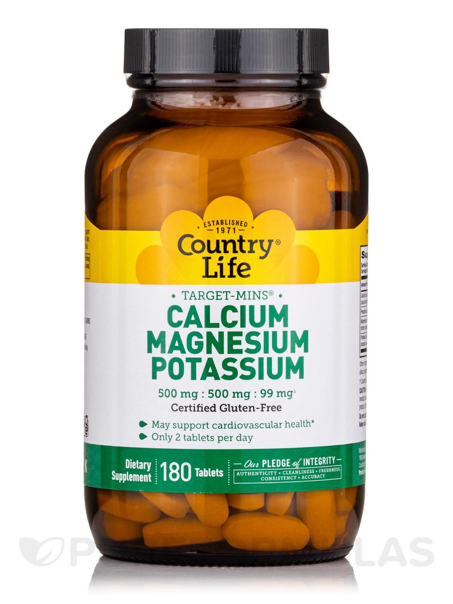 Target-Mins® Calcium Magnesium Potassium - 180 Tablets