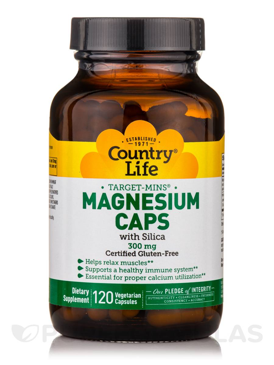 Target-Mins Magnesium with Silica 300 mg - 120 Vegetarian Capsules