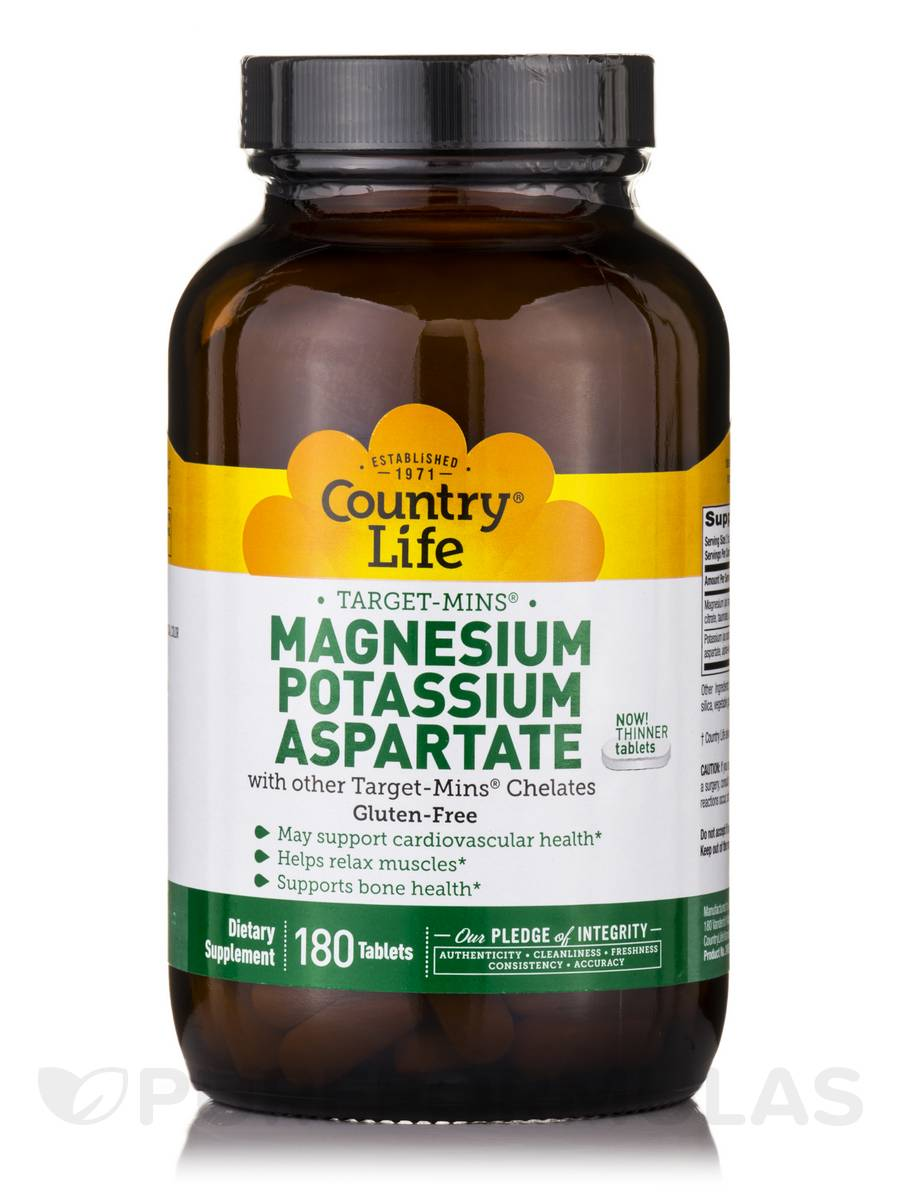 Target-Mins Magnesium-Potassium Aspartate - 180 Tablets