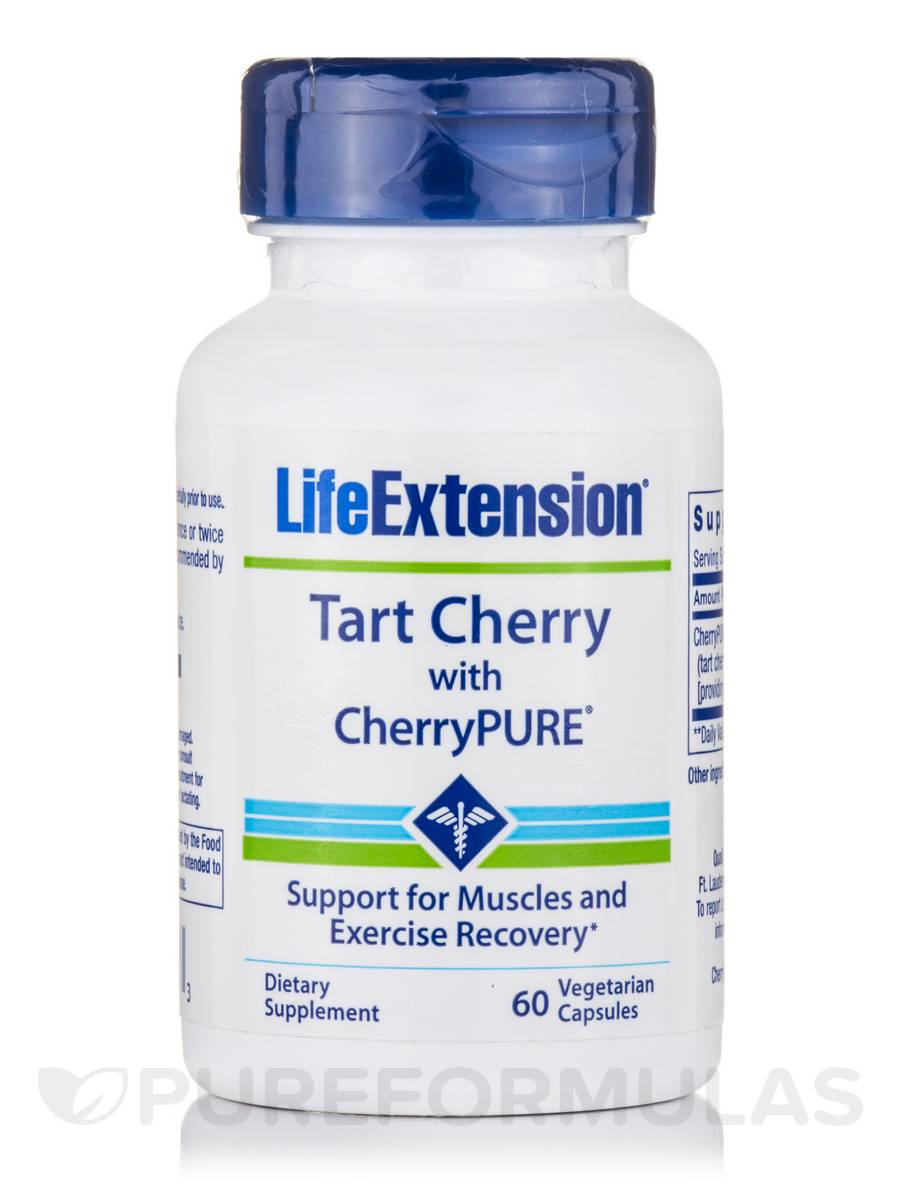 Tart Cherry Extract with Standardized CherryPure - 60 Vegetarian Capsules