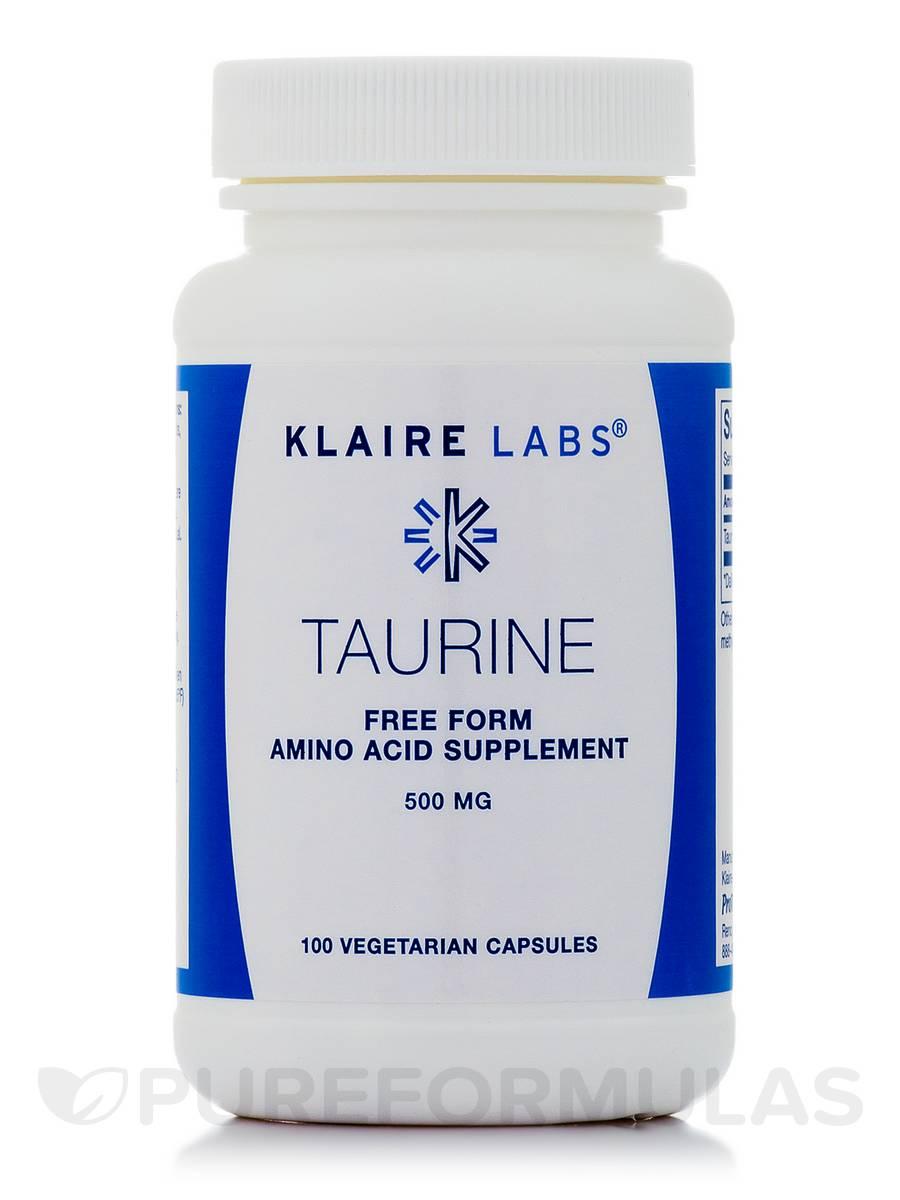 Taurine 500 mg - 100 Vegetarian Capsules