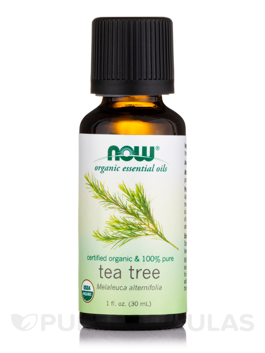 NOW® Organic Essential Oils - Tea Tree Essential - 1 fl. oz (30 ml)