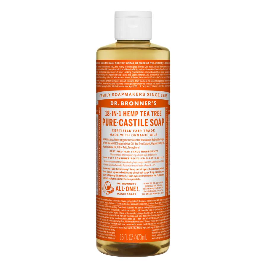 Tea Tree Oil Pure Castile Liquid Soap - 16 fl. oz (473 ml)