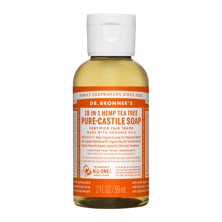 Tea Tree Oil Pure Castile Liquid Soap - 2 fl. oz (59 ml)