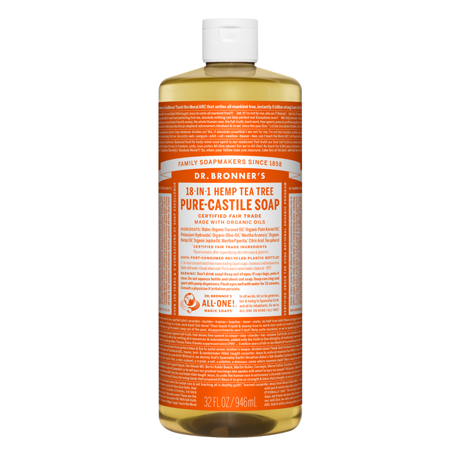 Tea Tree Oil Pure Castile Liquid Soap - 32 fl. oz (946 ml)