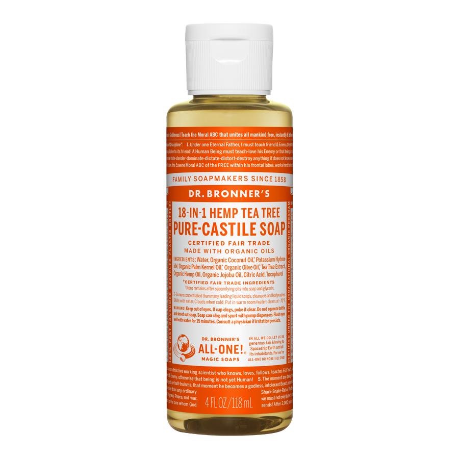Tea Tree Oil Pure Castile Liquid Soap - 4 fl. oz (118 ml)