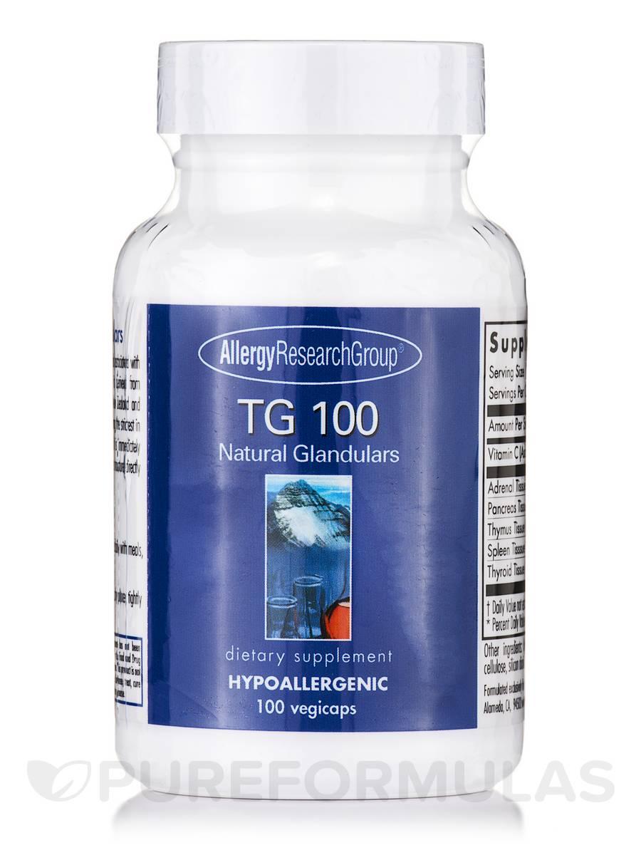 TG 100 Natural Glandulars - 100 Vegicaps