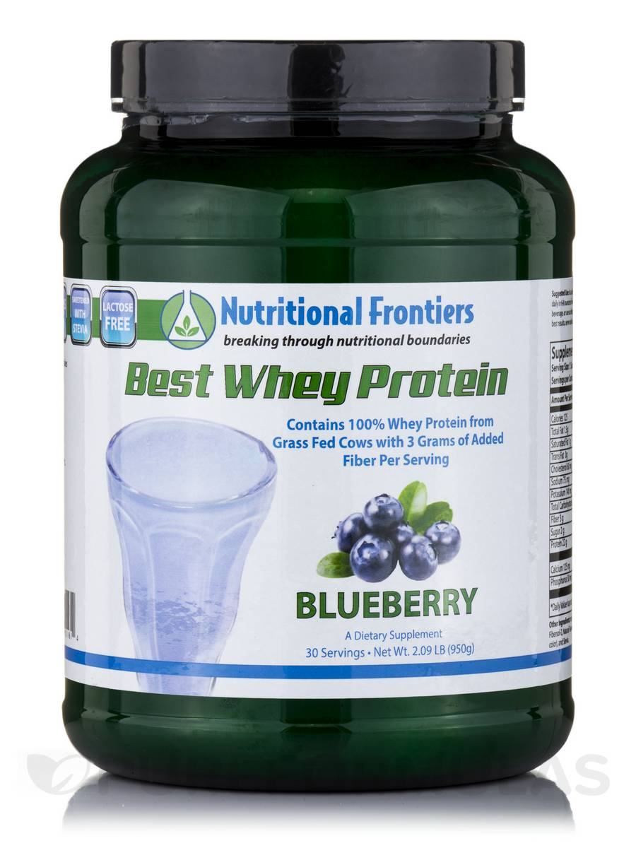 Best Whey Protein (Blueberry Flavor) - 30 Servings (2.09 lbs / 950 Grams)