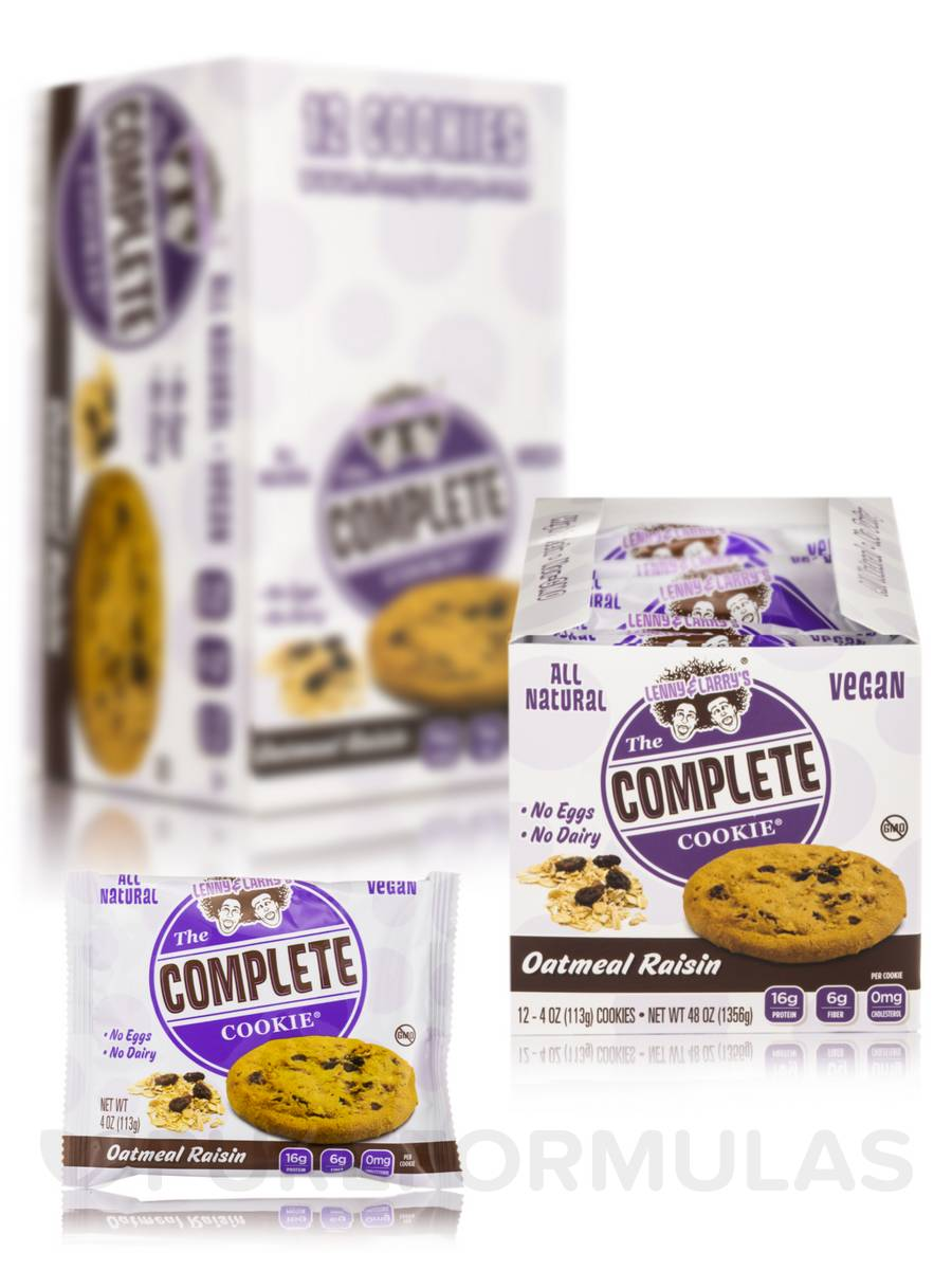 The Complete Cookie Oatmeal Raisin - Box of 12 Count (4 oz / 113 Grams Each)