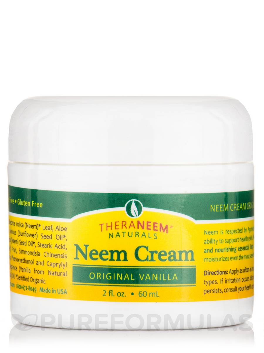 TheraNeem® Naturals Neem Cream, Original Vanilla - 2 fl. oz (60 ml)