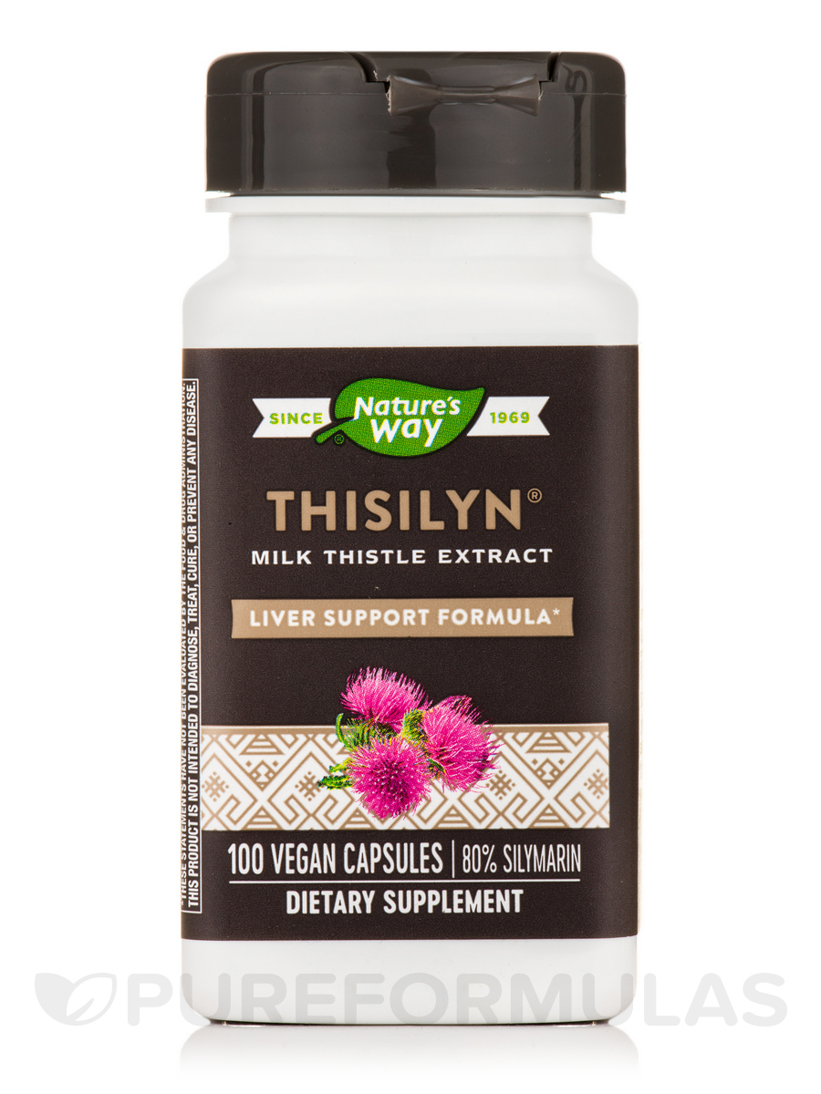 Thisilyn Standardized Milk Thistle Extract - 100 Vegetarian Capsules
