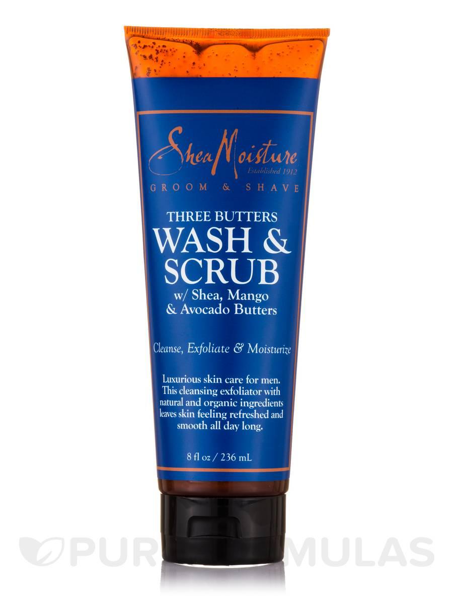 Men's Three Butters Body Wash & Scrub - 8 fl. oz (236 ml)
