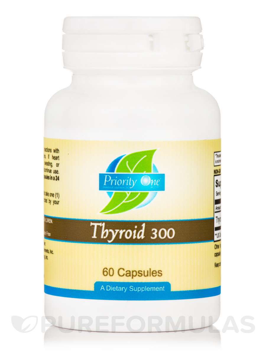 Thyroid 300 mg - 60 Capsules
