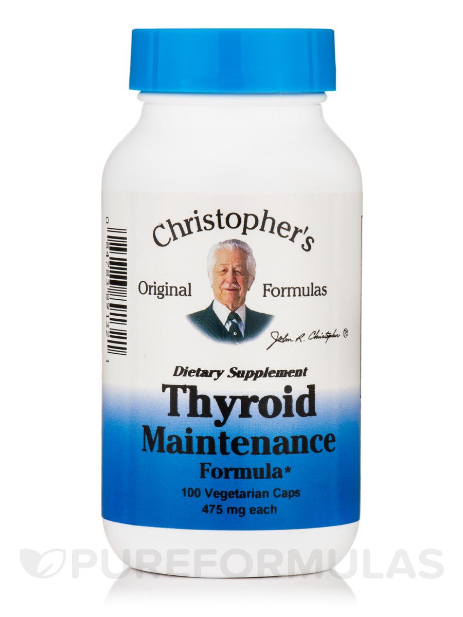Thyroid Maintenance Formula - 100 Vegetarian Capsules