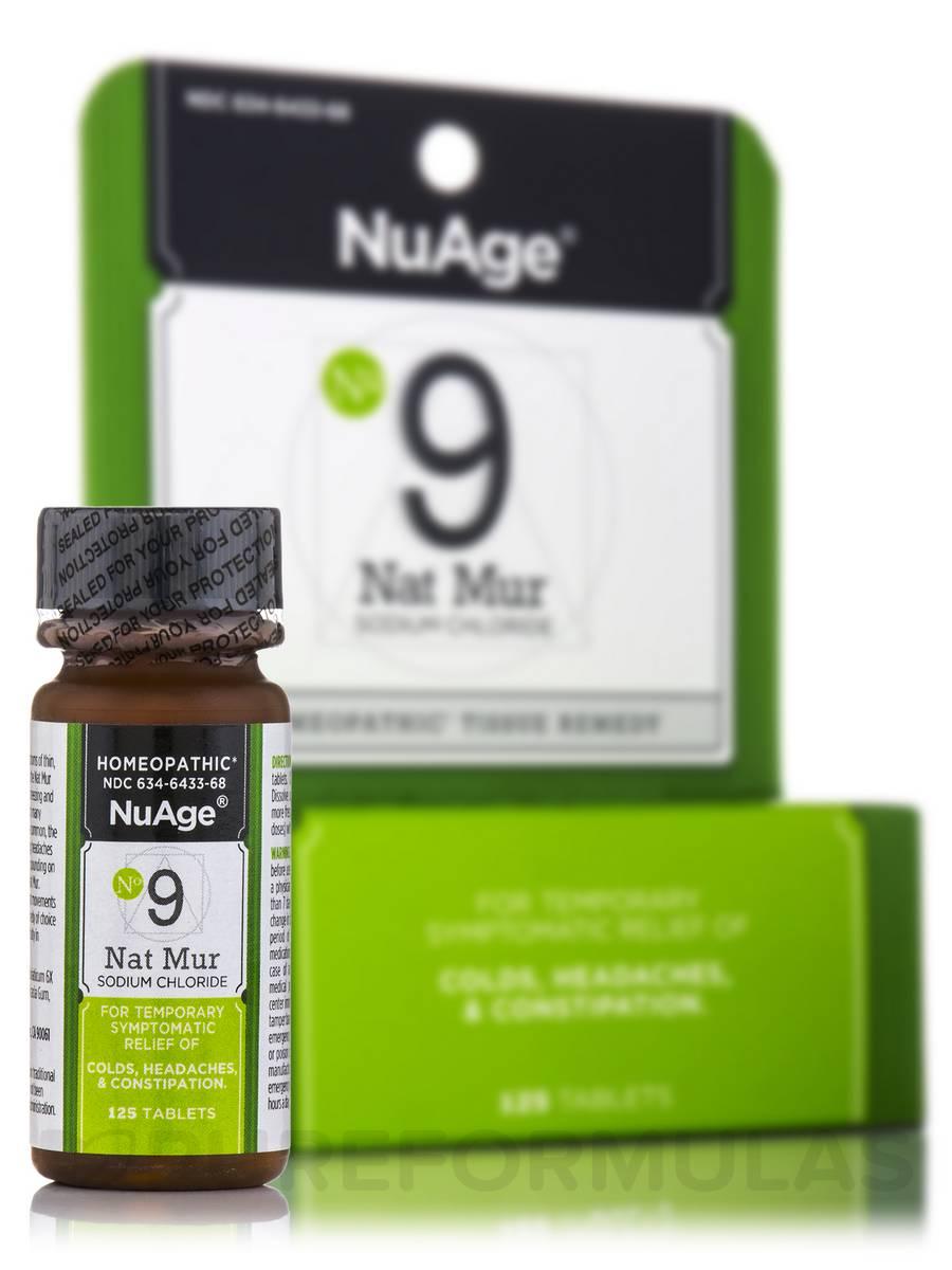 Tissue Salts Natrum Muriaticum 6X - 125 Tablets