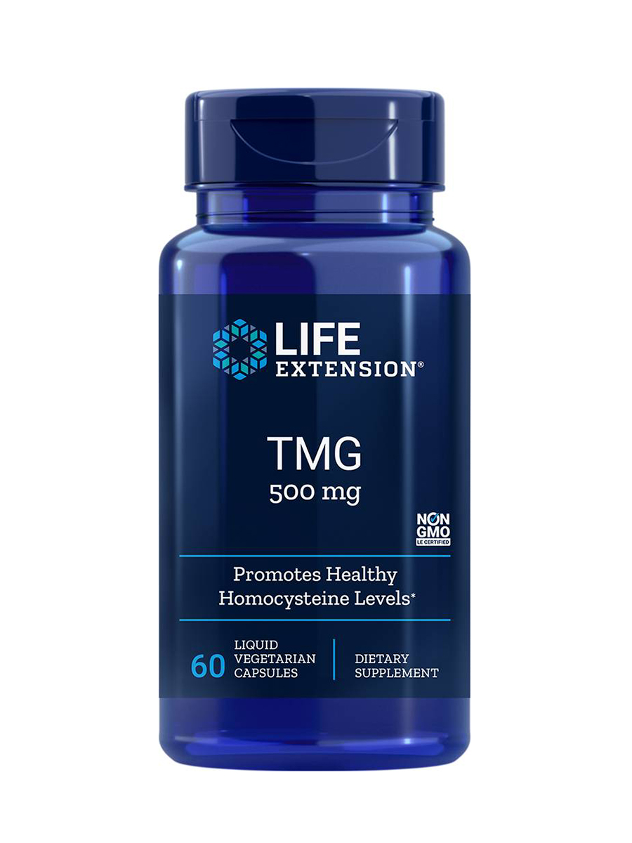 TMG 500 mg - 60 Liquid Vegetarian Capsules