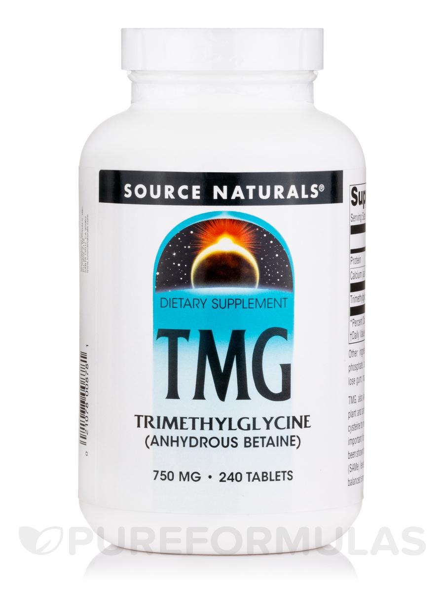 Tmg Trimethylglycine 750 mg - 240 Tablets