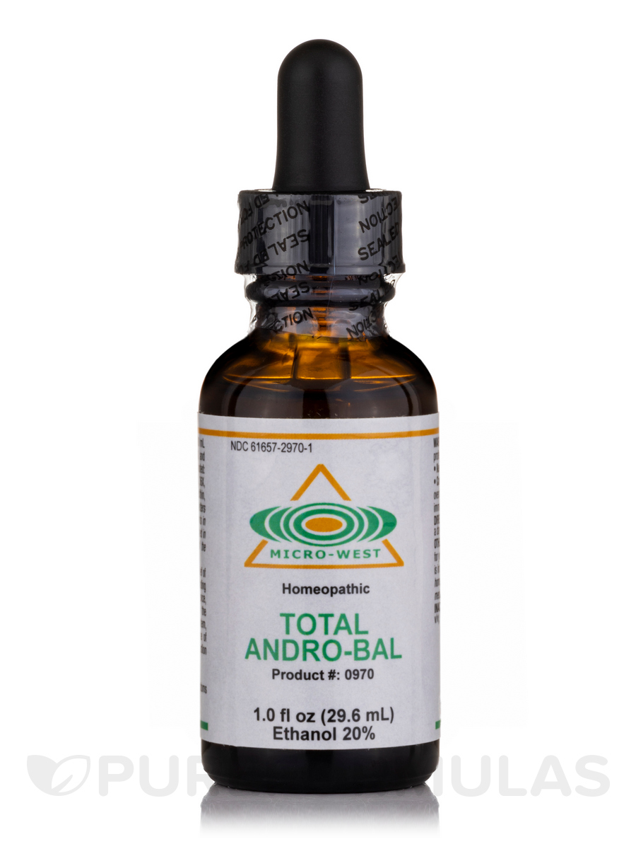 Total Andro-Bal (Homeopathic) Sublingual Spray - 1 fl. oz (29.6 ml)