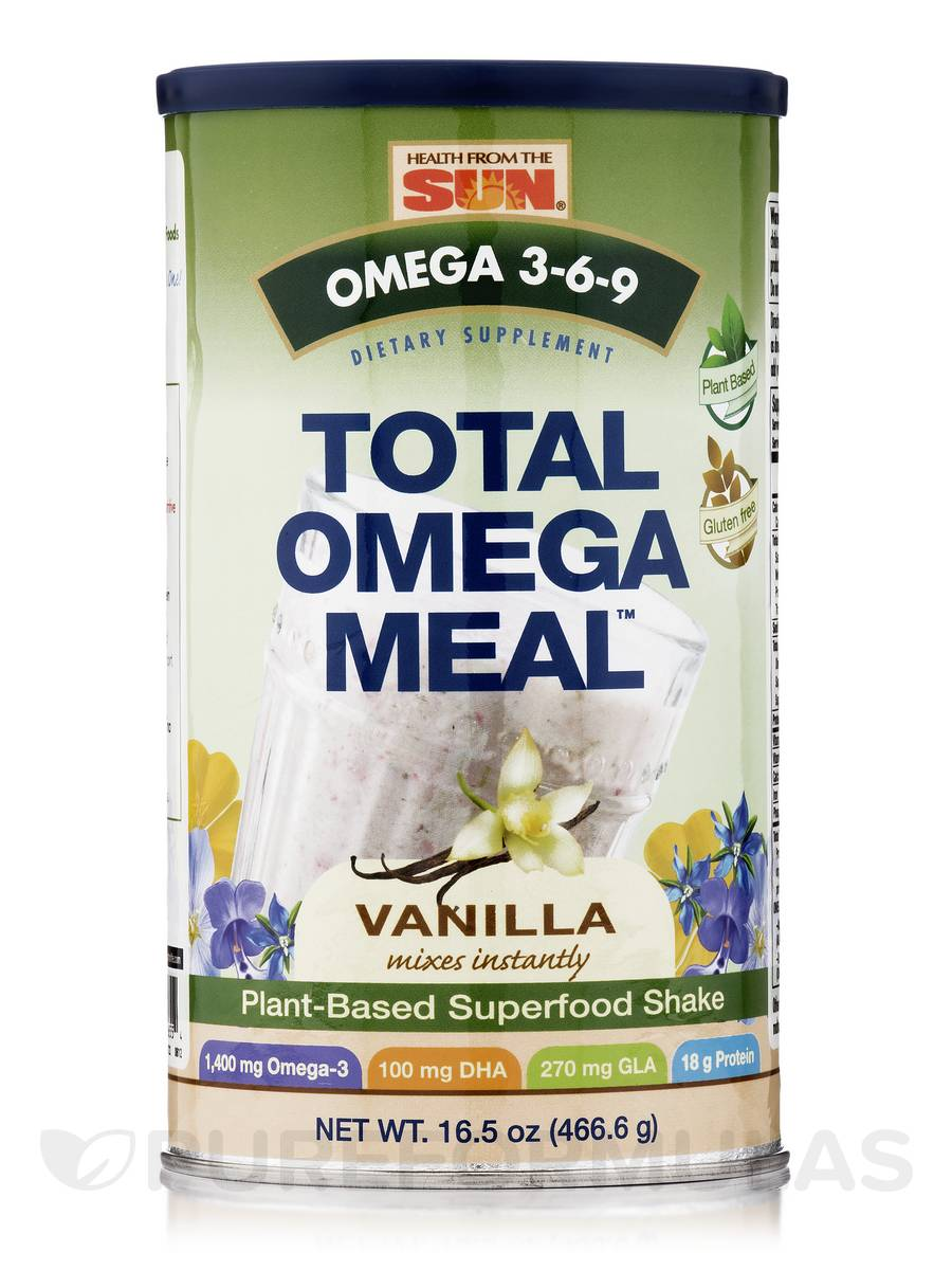 Total Omega Meal Vanilla - 16.5 oz (466.6 Grams)