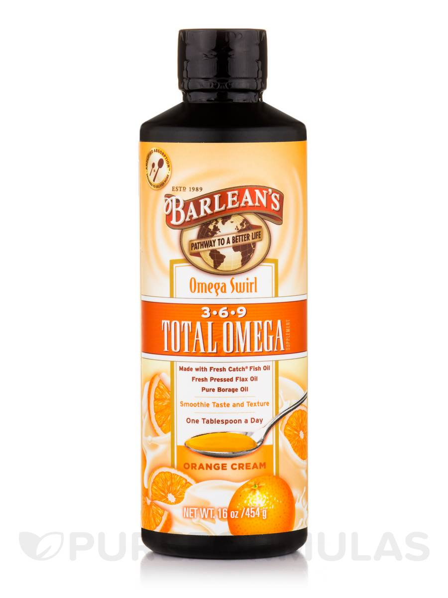 Total Omega 3-6-9 Swirl (Orange Cream) - 16 oz (454 Grams)