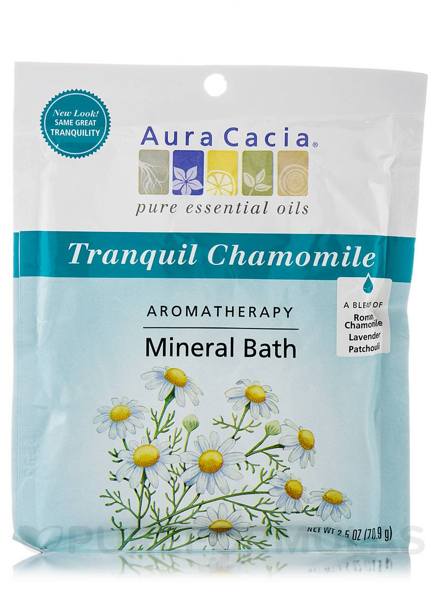 Tranquil Chamomile Aromatherapy Mineral Bath (Tranquility) - 2.5 oz (70.9 Grams)