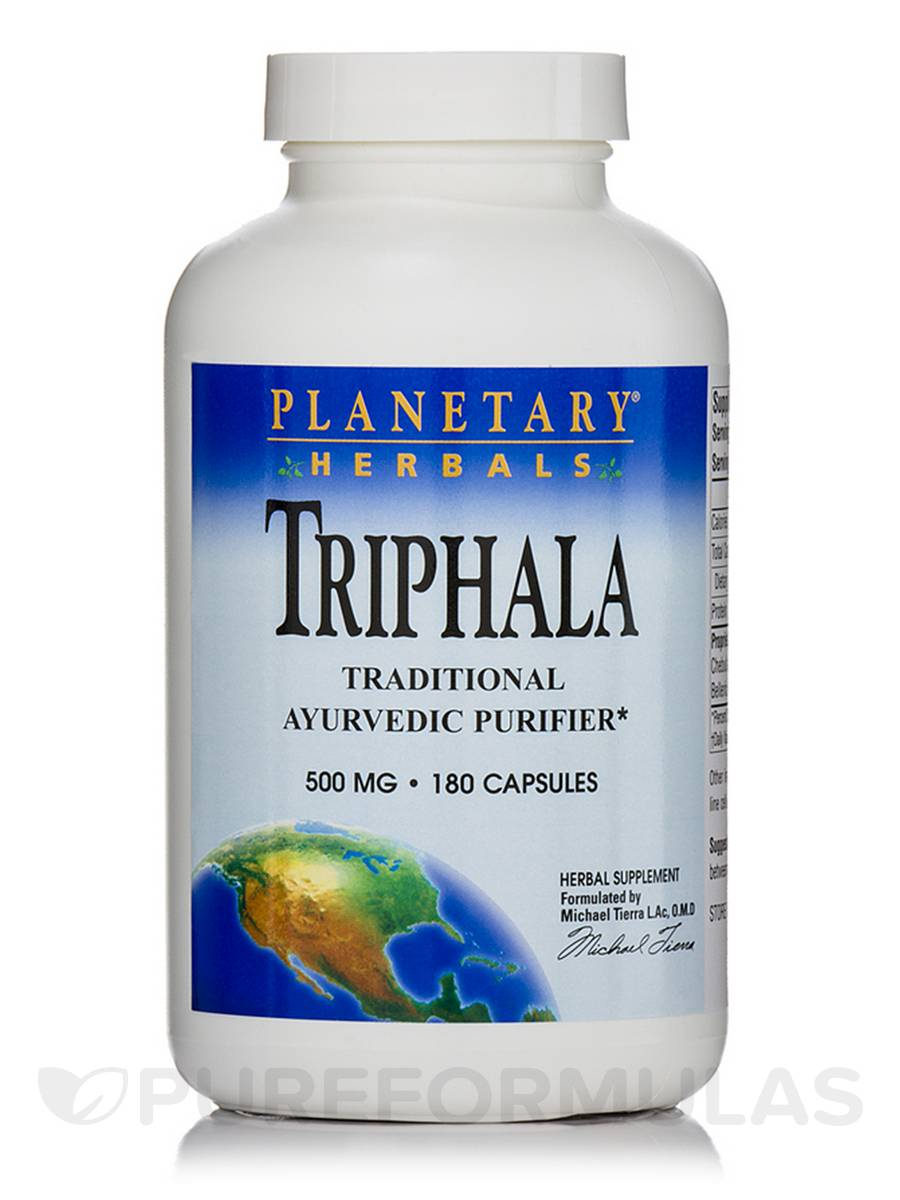 Triphala 500 mg - 180 Capsules