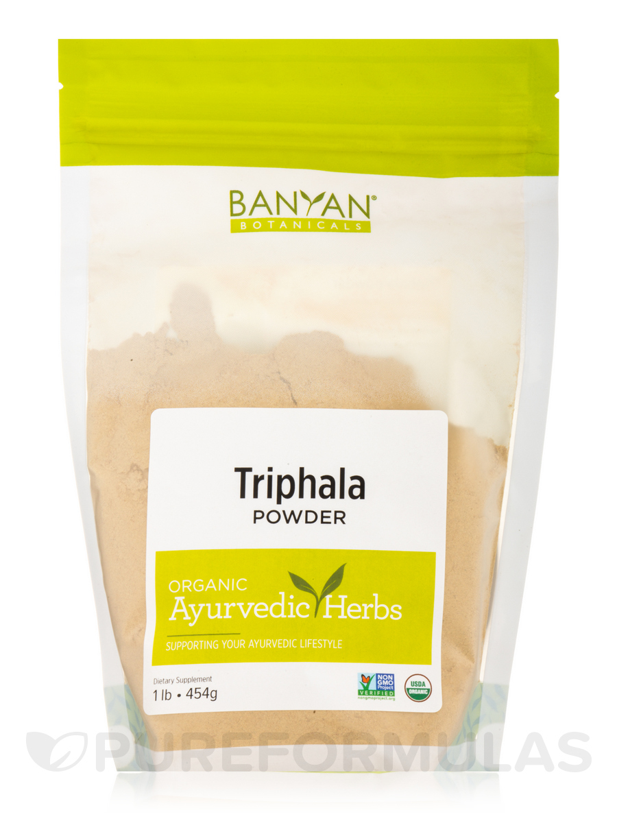 Triphala Powder, Organic - 1 Lb (454 Grams)