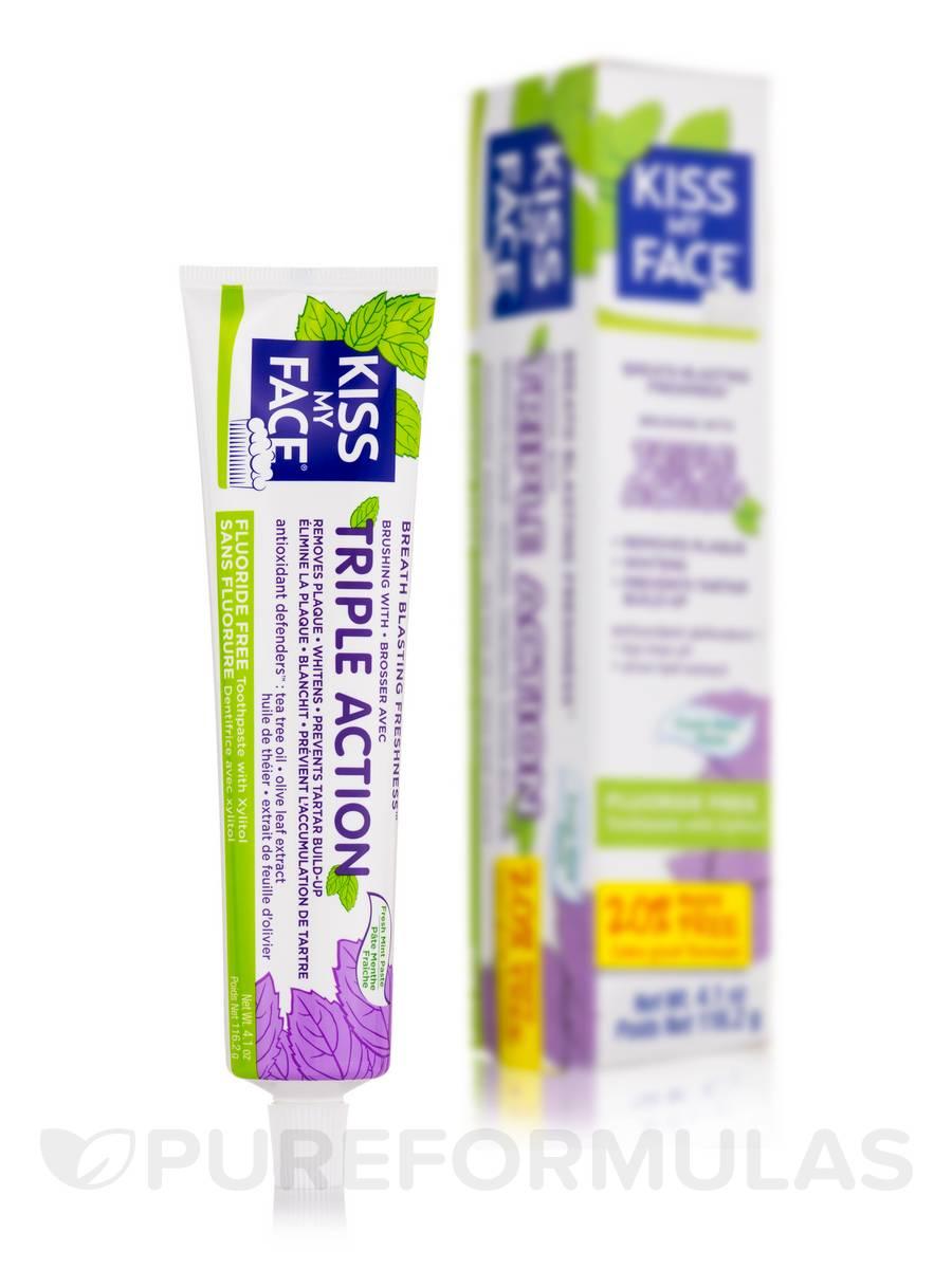Triple Action Toothpaste (Flouride Free) - 4.1 oz (116.2 Grams)